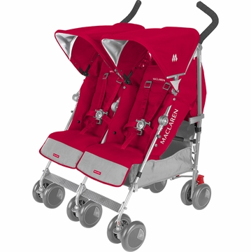 Maclaren Twin Techno Double Stroller - Persian Rose