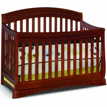 Delta Solutions Curved 4 in 1 Crib - Dark Cherry