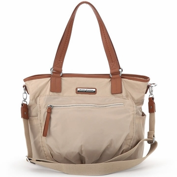 Perry Mackin Rachel Diaper Bag in Cream