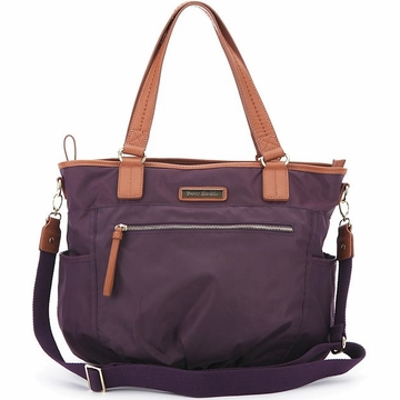 Perry Mackin Rachel Diaper Bag in Purple
