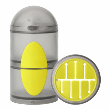 Boon PENGUIN STACK Snack Container - Gray & Yellow