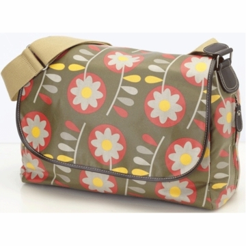 OiOi Retro Floral Messenger Diaper Bag