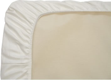 Naturepedic Fitted Organic Cotton Crib Sheet - White
