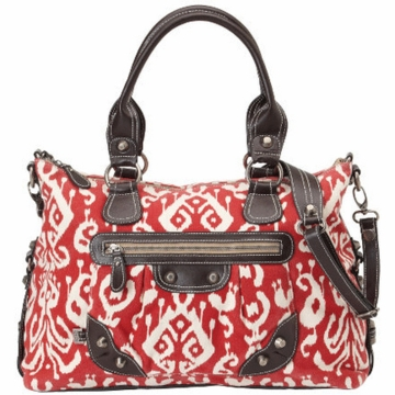 OiOi Red Ikat Tote Diaper Bag