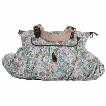 OiOi Indian Paisley Gathered Tote Diaper Bag