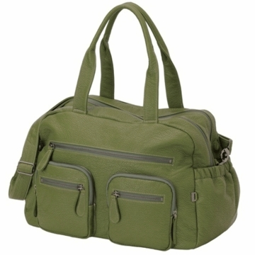OiOi Green Buffalo Carry All Diaper Bag