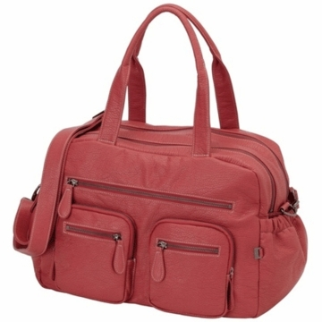 OiOi Pink Buffalo Carry All Diaper Bag