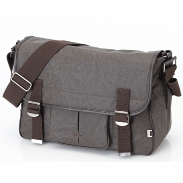 OiOi Chocolate Waxed Canvas Diaper Bag