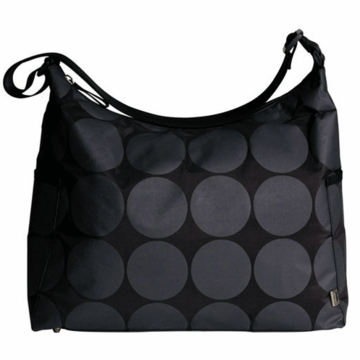 OiOi Dot with Lime Interior Hobo Diaper Bag