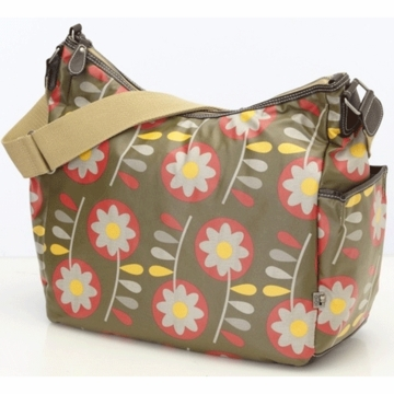 OiOi Retro Floral Hobo Diaper Bag