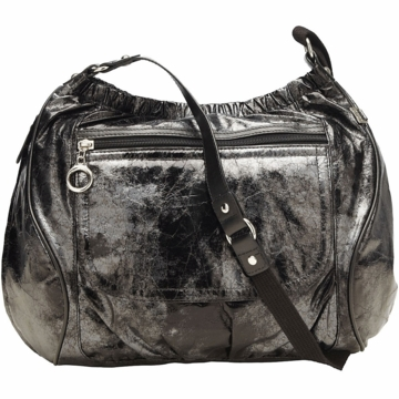 OiOi Black Metallic Out & About Diaper Bag