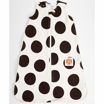 Gunamuna Gunapod Printed Dot Sleep Sack - Chocolate - Medium