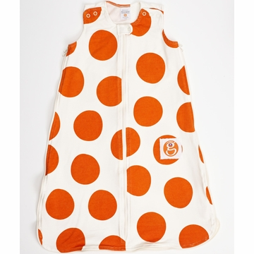 Gunamuna Gunapod Printed Dot Sleep Sack - Modern Orange - Small