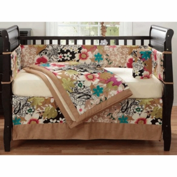 Bananafish Mod Pop Floral 3 Piece Crib Set