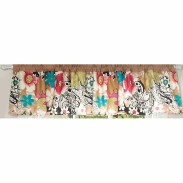 Bananafish Mod Pop Floral Window Valance