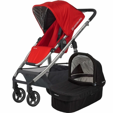 Uppababy Cruz Stroller & Bassinet - Red/Black