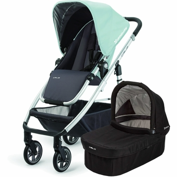Uppababy Cruz Stroller & Bassinet - Blue/Black