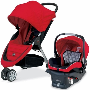 Britax B-Agile Travel System - Red - 2013
