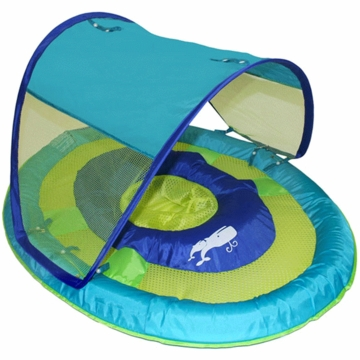 SwimWays Baby Spring Float Sun Canopy in Blue Whale