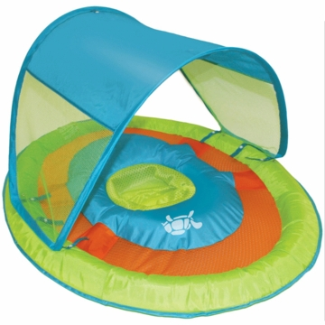 SwimWays Baby Spring Float Sun Canopy in Green Turtle