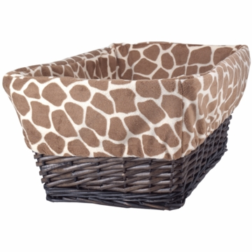 Lambs & Ivy Peek A Boo Jungle Basket with Liner