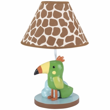 Lambs & Ivy Peek A Boo Jungle Lamp with Shade