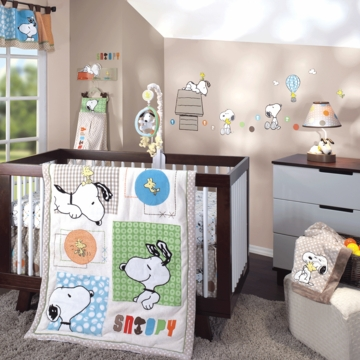 Lambs & Ivy BFF Snoopy 5 Piece Crib Bedding Set