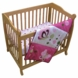 Lambs & Ivy Raspberry Swirl 2 Piece Mini Crib Set