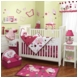 Lambs & Ivy Raspberry Swirl 5 Piece Crib Bedding Set