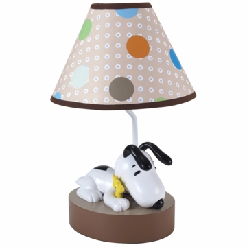 Lambs & Ivy BFF Snoopy Lamp with Shade