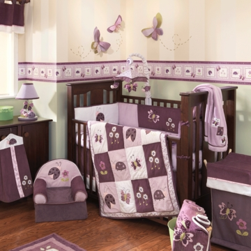 Lambs & Ivy Luv Bugs 5 Piece Crib Bedding Set