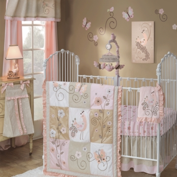 Lambs & Ivy Fawn 5 Piece Crib Bedding Set