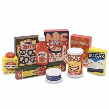 Melissa & Doug Dry Goods Pantry Set - Wooden Play Food