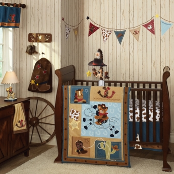Lambs & Ivy Giddy Up 5 Piece Crib Bedding Set
