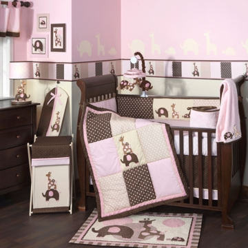 Lambs & Ivy Emma 5 Piece Crib Bedding Set