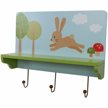 Lambs & Ivy Little Hoot 3 in 1 Wall D�cor, Shelf & Pegs