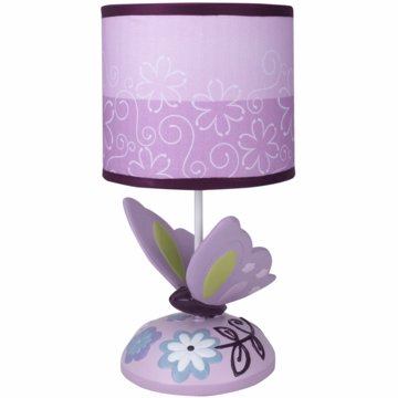 Lambs & Ivy Butterfly Lane Lamp with Shade