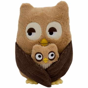 Lambs & Ivy Little Hoot & Baby Hoot Plush Owls - Set of 2
