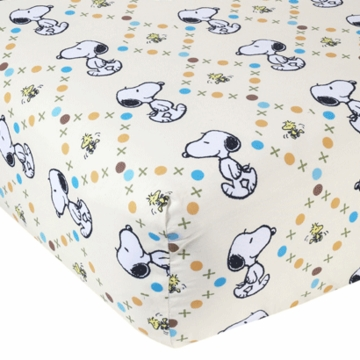 Lambs & Ivy BFF Snoopy Crib Sheet