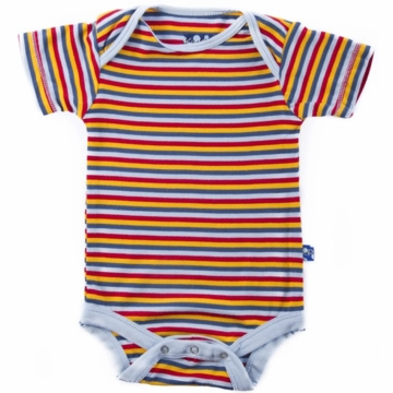 KicKee Pants Print Short Sleeved Onesie - Circus Stripe - 0 to 3 Months