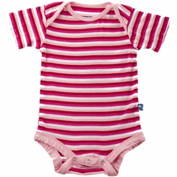 KicKee Pants Print Short Sleeved Onesie - Candy Stripe - 0 to 3 Months