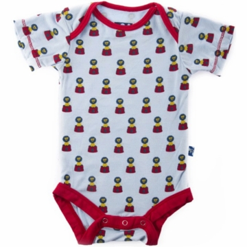 KicKee Pants Print Short Sleeved Onesie - Lion - 3 to 6 Months