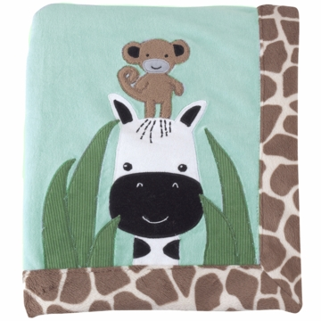 Lambs & Ivy Peek A Boo Jungle Blanket