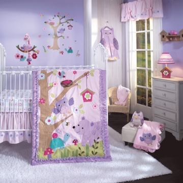 Lambs & Ivy Mystic Forest 7 Piece Crib Bedding Set