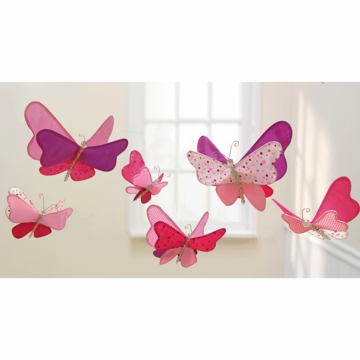 Lambs & Ivy Ceiling Sculpture - Pink Butterfly