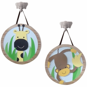 Lambs & Ivy Peek A Boo Jungle Wall D�cor - Set of 2