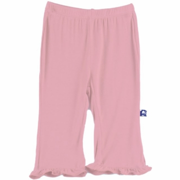 KicKee Pants Solid Ruffle Pant - Lotus - 6 to 12 Months