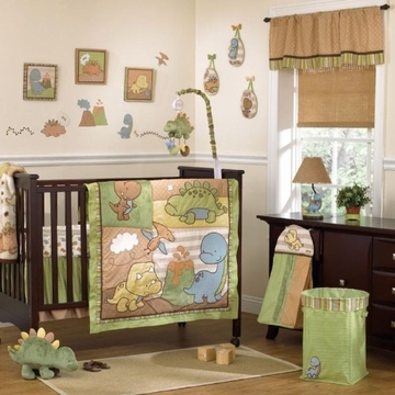 CoCaLo Dinomite Eight Piece Crib Set