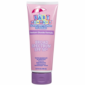 Baby Blanket Sunblock Lotion, SPF 50+ (6 oz)
