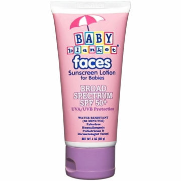 Baby Blanket Faces Sunscreen for Babies, SPF 50+ (3 oz)